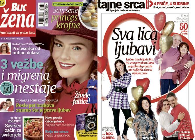 "Nova ""Blic žena"" na kioske stiže u subotu 9. februara"