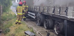Piorun trafił w ciężarówkę. Jej opony przeleciały kilkadziesiąt metrów