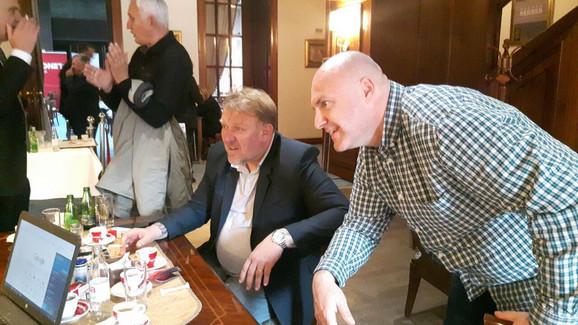 Robert Prosinečki sa urednikom sportske rubrike
