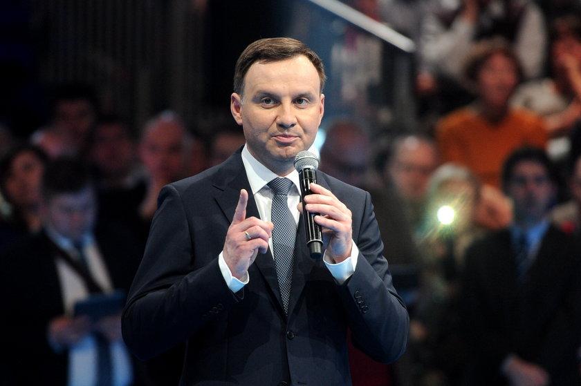 Andrzej Dudy, kandydat na prezydenta PiS