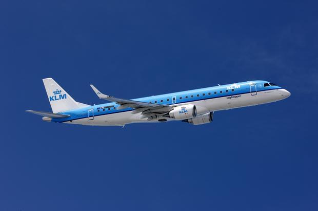 Samolot KLM w locie