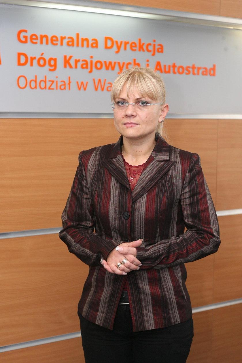 Małgorzata Tarnowska, rzecznik stołecznego oddziału Generalnej Dyrekcji Dróg Krajowych i Autostrad.