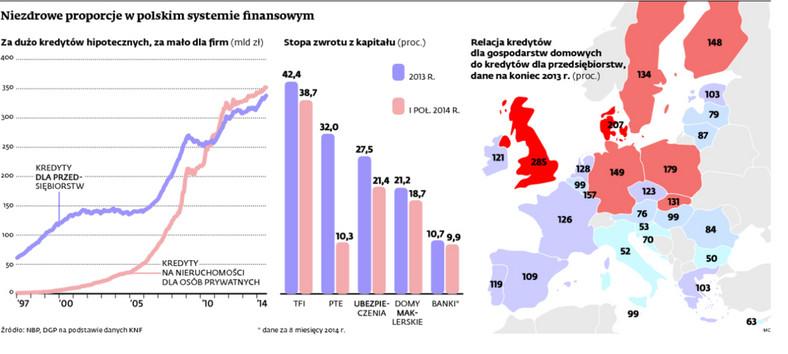 Niezdrowe proporcje w polskim systemie finansowym