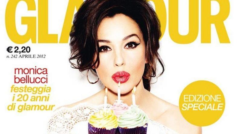 """Monica Bellucci na okładce włoskiego """"Glamour. Źródło: Glamour Italy"""