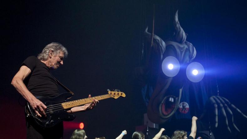 Roger Waters podczas koncertu w Budapeszcie