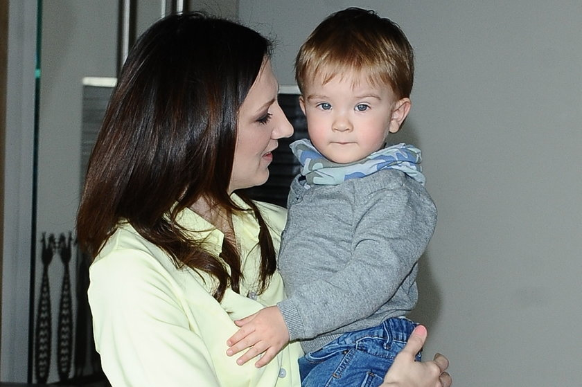 Monika Pyrek z synem