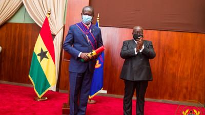 Akufo-Addo decorates COCOBOD CEO with Companion of the Order of Volta