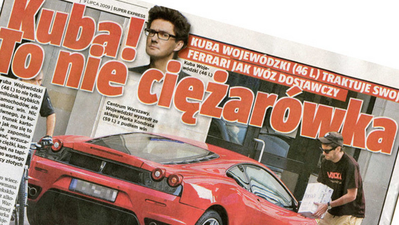 Wojewódzki traktuje Ferrari jak wóz dostawczy