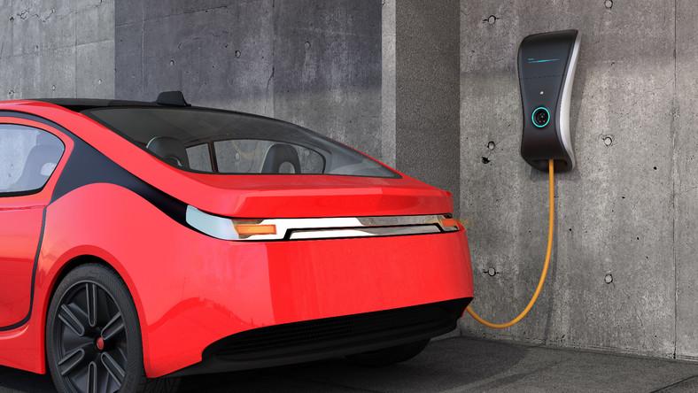 Auto elektryczne ładowane prądem