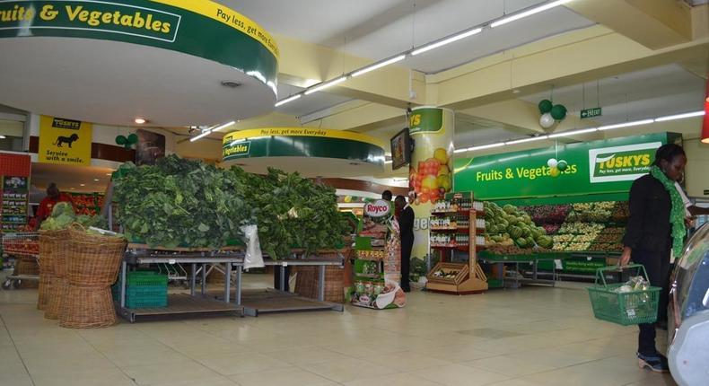 Kenyan supermarket chain, Tuskys.