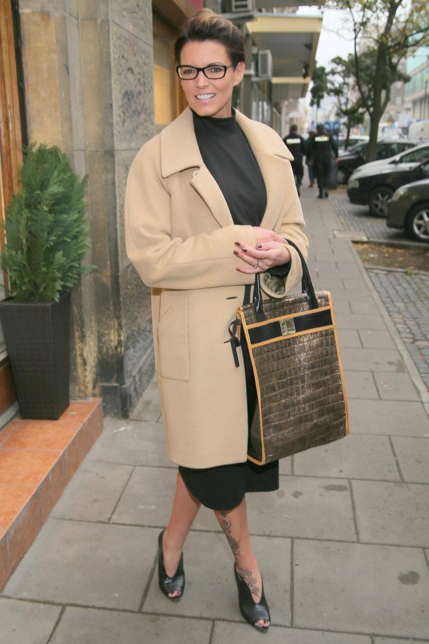Ilona Felicjańska na otwarciu butiku