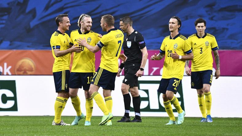 Radość Szwedów po bramce Emila Forsberga