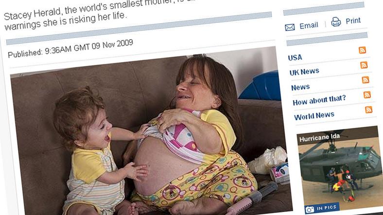 Najmniejsza matka świata urodzi po raz trzeci