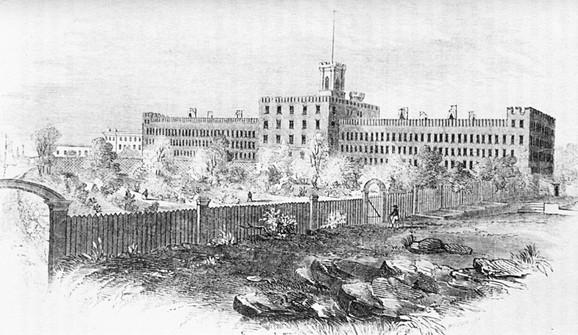 Zatvor na Blekvelovom ostrvum 1853. (FOTO:Wikimedia Commons)