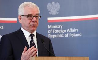 MSZ: Spotkanie szefa polskiej dyplomacji z sekretarzem generalnym OBWE