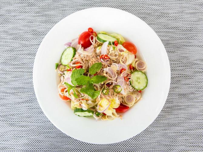 salata sa tikvicama i tunjevinom