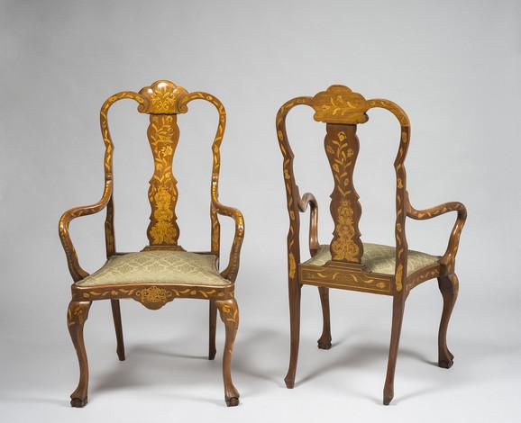 Fotelja, neobarok, stil kraljica Ana, 19. vek