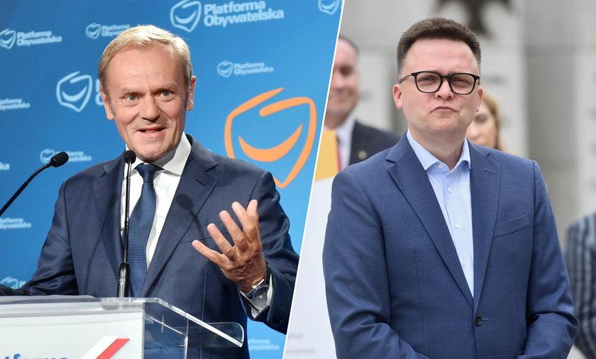 Donald Tusk i Szymon Hołownia.