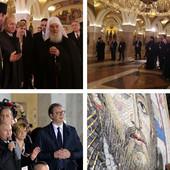 (FOTO) KOCKICE U MOZAIKU S LIKOM HRISTA Ovako je izgledala Putinova poseta Hramu Svetog Save