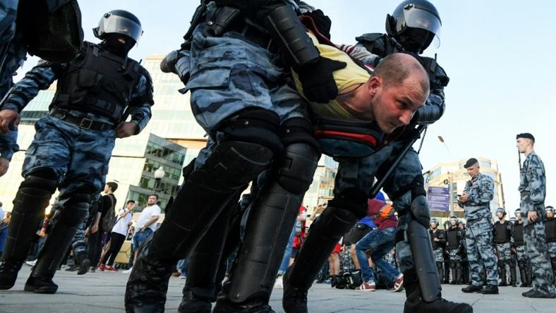 Riot police have arrested more than 2,400 in two recent Moscow opposition rallies