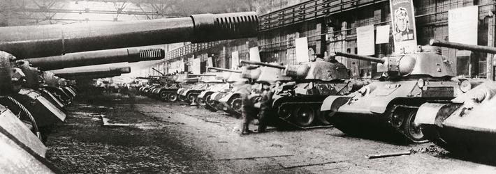 Chelyabinsk Tractor Plant in World War II, 1945