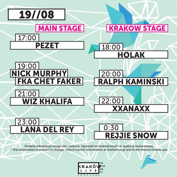 Kraków Live Festival 2017 - sobota
