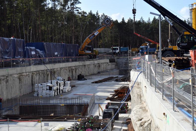 teren budowy tunelu