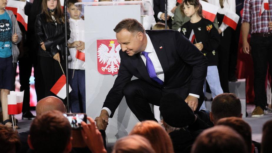 Andrzej Duda po ogłoszeniu sondażowych wyników wyborów