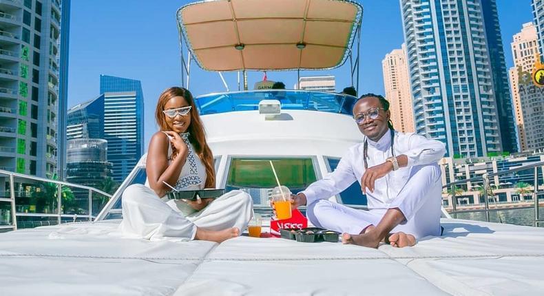 Diana Marua and Bahati in Dubai for a Holiday