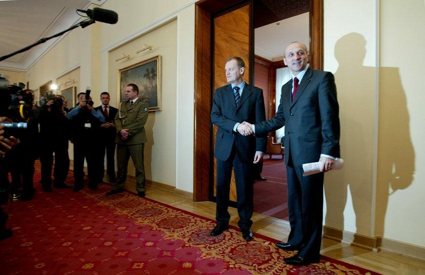 Donald Tusk i Kazimierz Marcinkiewicz
