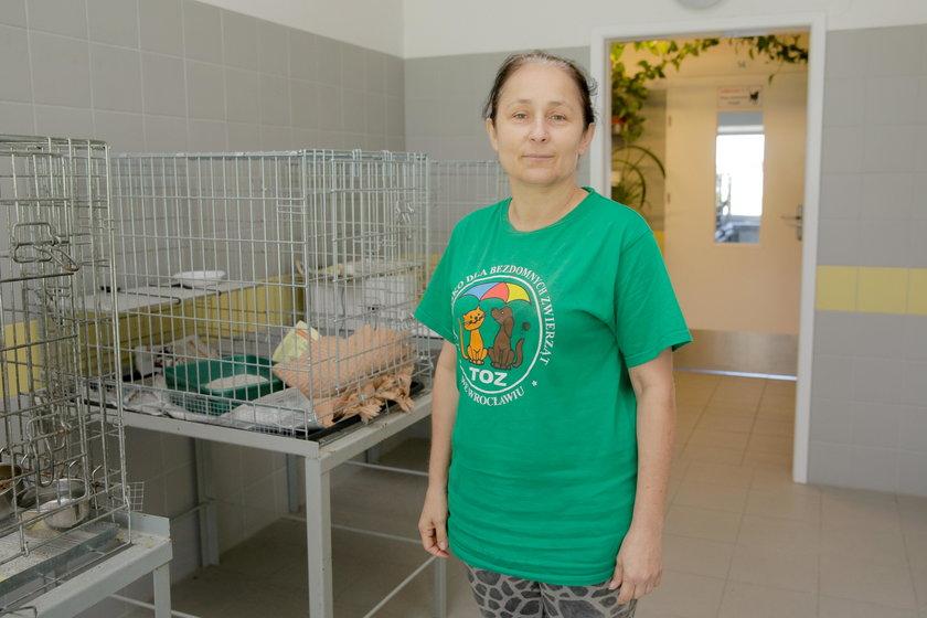 Małgorzata Dobrowolska (54 l.) pracuje w schronisku od 31 lat