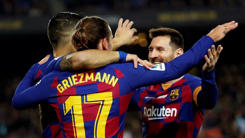 Antoine Griezmann, Luis Suarez i Lionel Messi