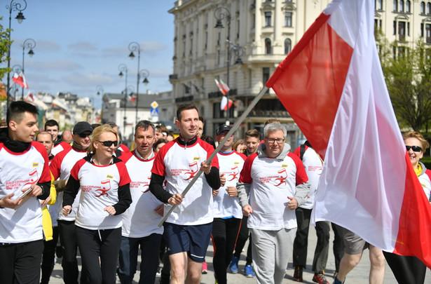 Uczestnicy Biało-Czerwonej Sztafety