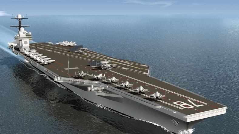 Obecnie budowany USS Gerald R Ford, to pierwszy egzemplarz nowej klasy atomowych okrętów