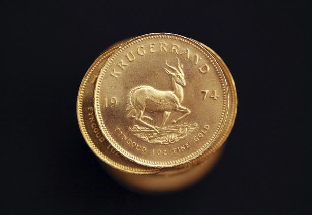 Połudnowoafrykański złoty Krugerrand - najbardziej znana złota moneta na świecie.
