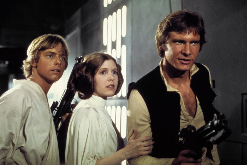 Mark Hamill, Carrie Fisher i Harison Ford