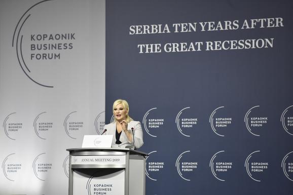 Zorana Mihajlović na Kopaonik biznis forumu
