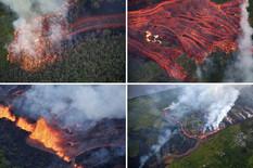kolaž havaji erupcija