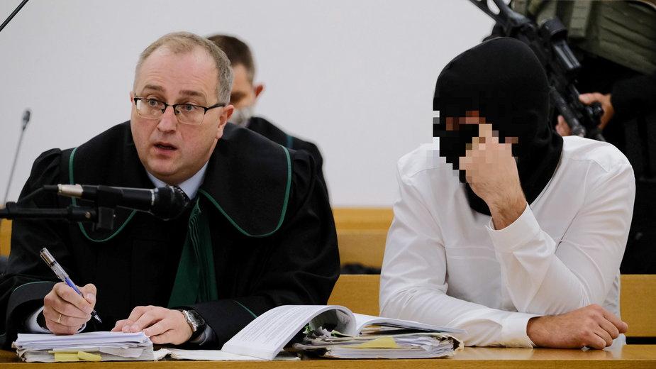Oskarżony Igor M.  podczas rozprawy w Sądzie Okręgowym w Warszawie