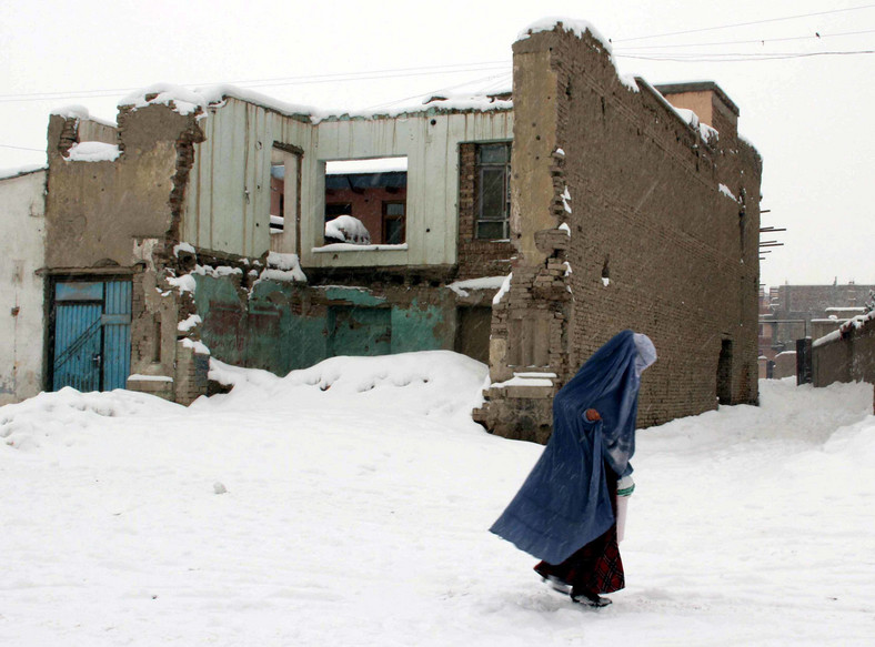 Zburzone i zrujnowane domy w okolicach Kabulu