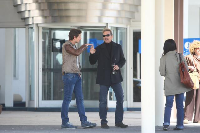 Kevin Kostner na snimanju kod hotela Jugoslavija