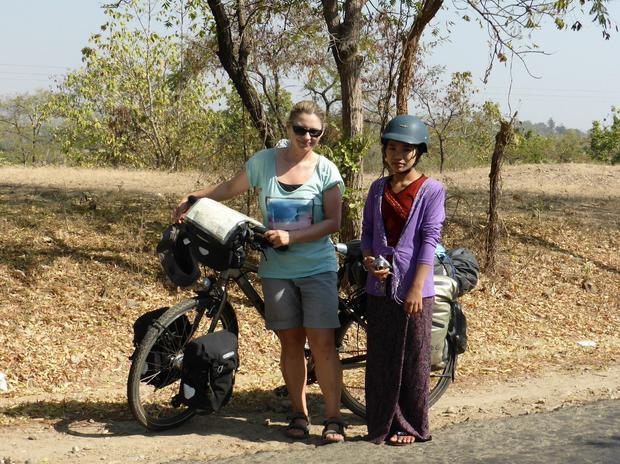 Ewa Swiderska w Birmie, fot. www.ewcyna.com