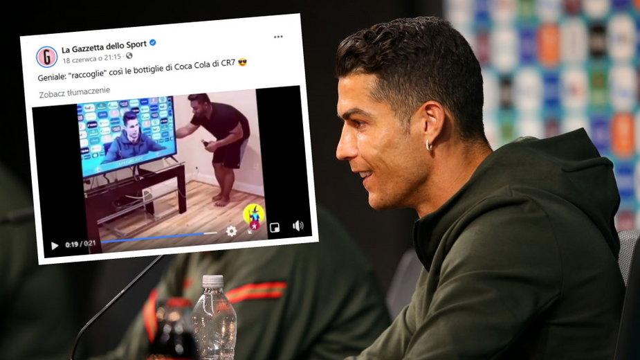 Cristiano Ronaldo podczas konferencji przed meczem z Węgrami na Euro 2020