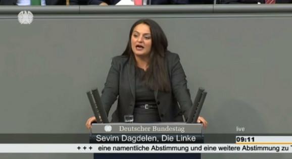 Sevim Dagdelen govori u Bundestagu