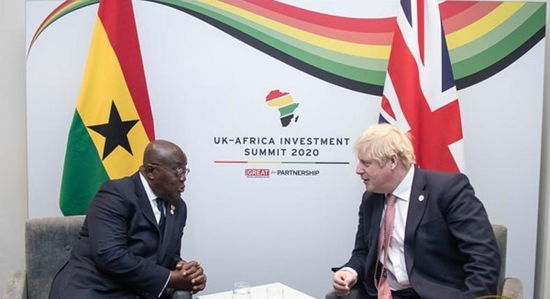 Nana Addo with Boris Johnson