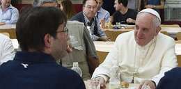 Papież w pracowniczej stołówce!