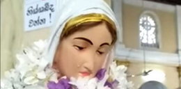 Cud na Sri Lance? Figura Matki Boskiej uroniła łzy