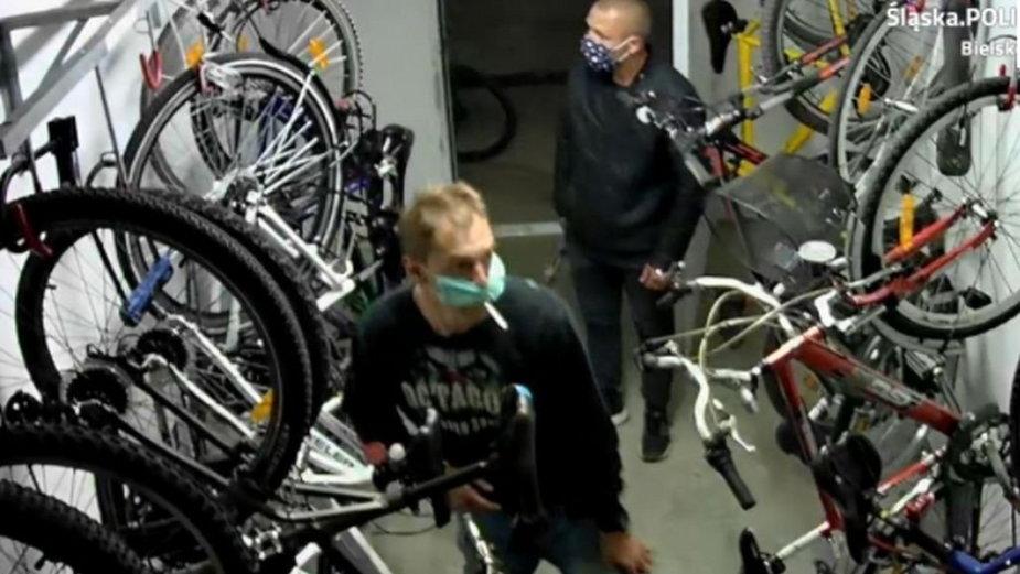 Ukradli rowery. Dali się nagrać