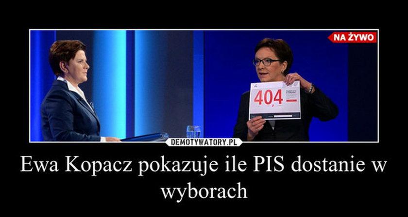 Ewa Kopacz i Beata Szydło na debacie