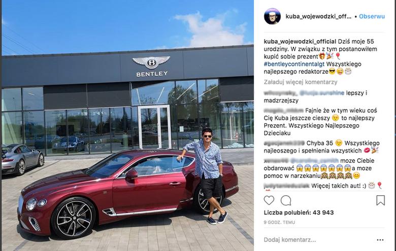 Kuba Wojewódzki ma nowy samochód